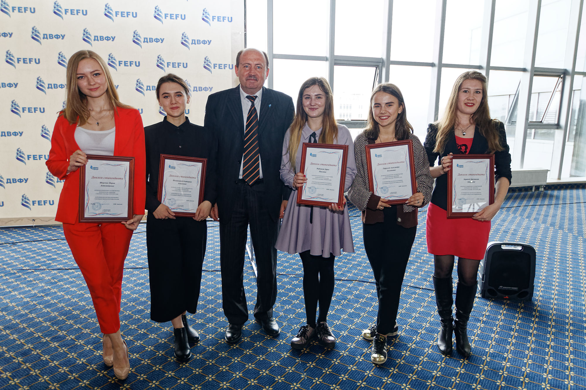 About 1000 students and young scientists received nominal and increased scholarships at FEFU