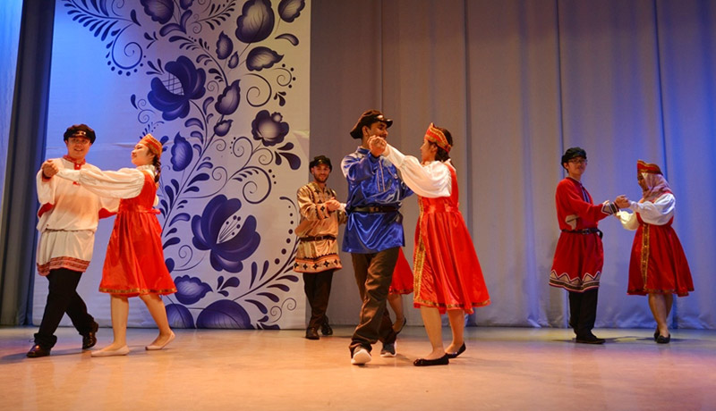 FEFU international students made an enchanting performance at the I'm Studying in Russia festival