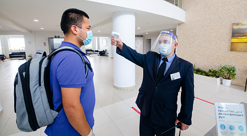 Guidance for a contact person upon arrival to a quarantine building