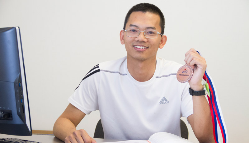 FEFU student from Vietnam is a prize winner of the International Maths Olympiad