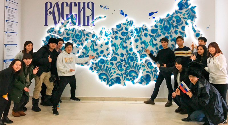 Tokai University students got acquainted with Russia on internship at FEFU