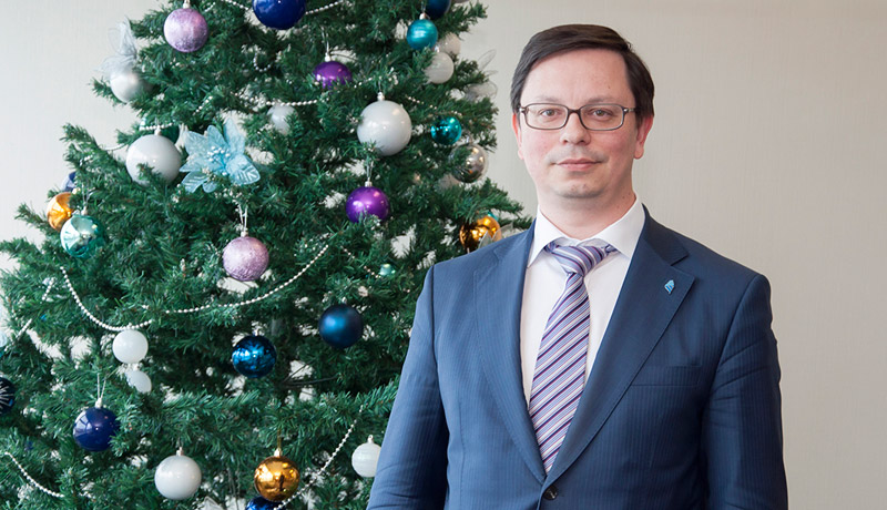 FEFU President Nikita Anisimov wishes for New Year