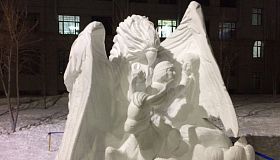 Firebird by FEFU students won international competition of snow sculptures